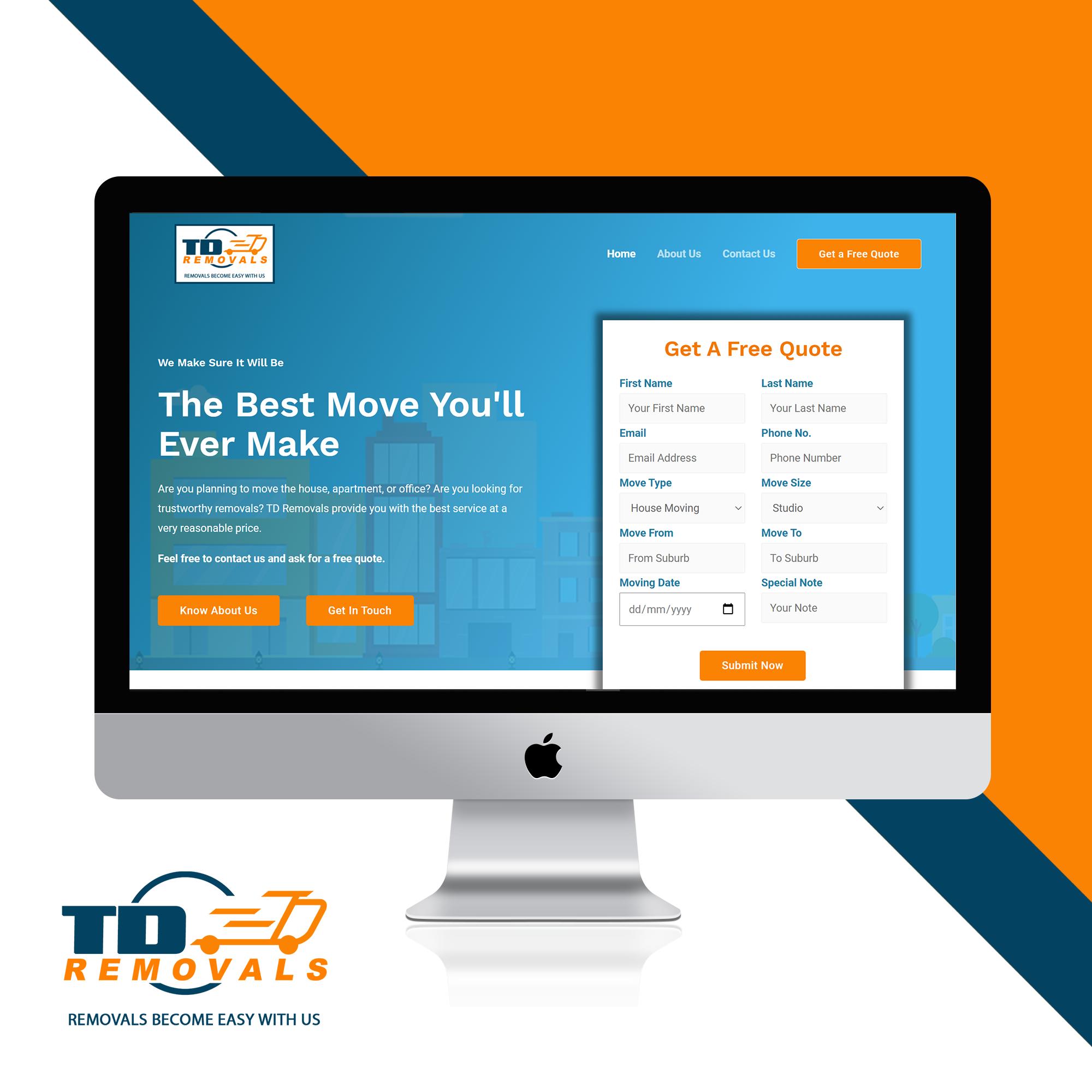 Website Development for Removals Service