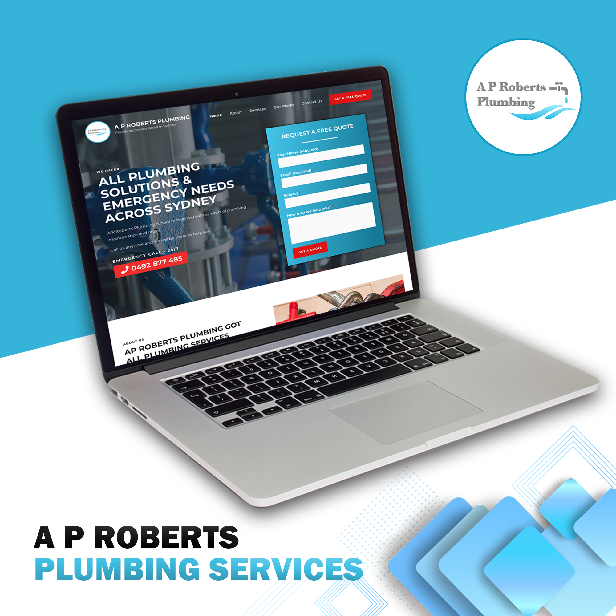 Website Development Project For Plumbing Business Client